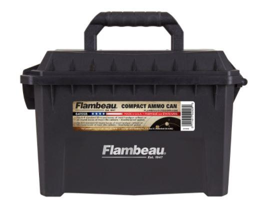 Flambeau 6415SB Compact Ammo Can 223 Rem,5.56x45mm NATO 20-rd Boxes Black