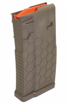 Hexmag AR-10/.308 MAGAZINE - 10 ROUND - POLYHEX2 - FLAT DARK EARTH - Pacific Flyway Supplies