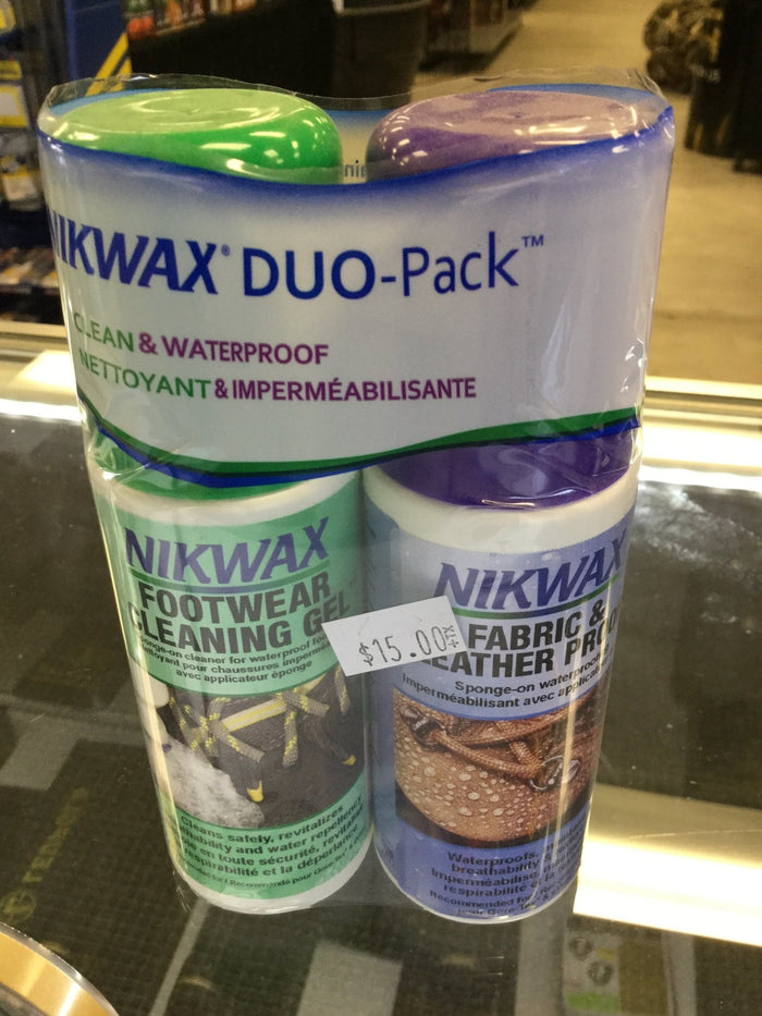 NIKWAX Duo-Pack Footwear Cleaning Gel and Fabric & Leather Proof
