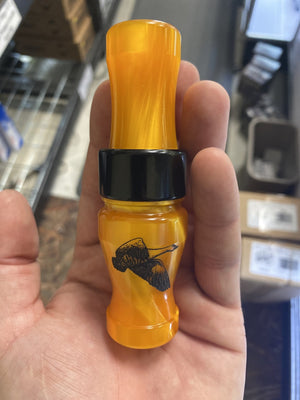 "Riceland Custom Calls Acrylic 3/4"" Guts Specklebelly Orange Swirl - Pacific Flyway Supplies"