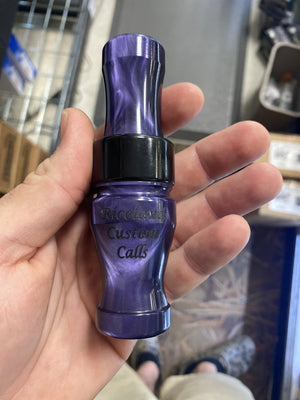"Riceland Custom Calls Acrylic 3/4"" Guts Specklebelly Purple Swirl - Pacific Flyway Supplies"