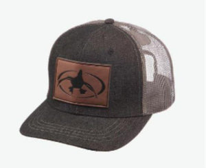 Rig 'Em Right Denim Leather Patch Hat - Pacific Flyway Supplies
