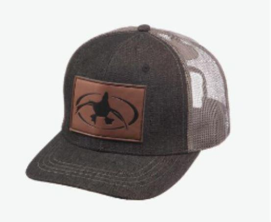 Rig 'Em Right Denim Leather Patch Hat