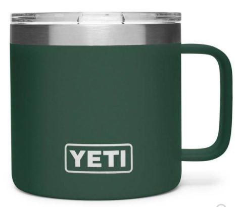Yeti Rambler 14 oz Mug with Magslider Lid - Northwoods Green