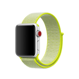 Apple Watch Nylon Loop Band Sport Strap (42mm 44mm Series 4 / 3 / 2 / 1) Flash Light Green