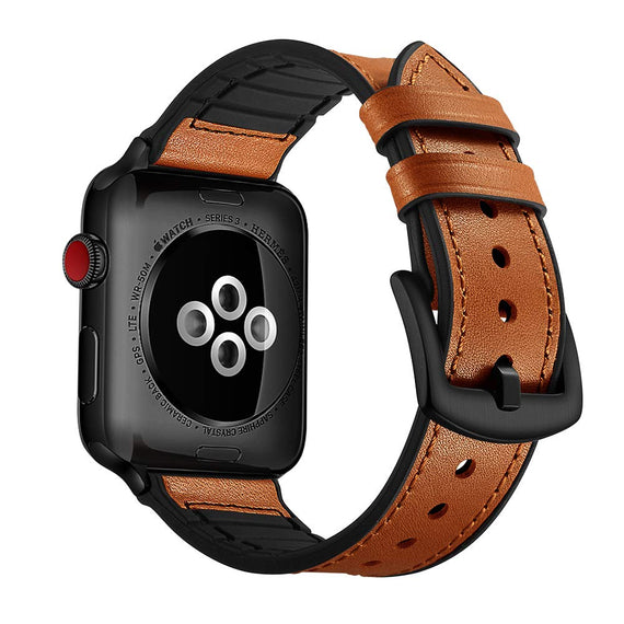 Apple Watch band Genuine Leather Strap (42mm 44mm Series 4 / 3 / 2 / 1) Vintage Brown