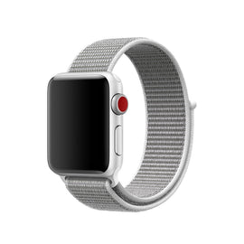 Apple Watch Nylon Loop Band Sport Strap (42mm 44mm Series 4 / 3 / 2 / 1) Grey White