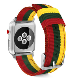 Apple Watch Woven Loop Nylon Band Sport Strap 42mm 44mm Series 4 / 3 / 2 / 1 (Yellow & Army Green & Red)