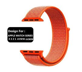 Apple Watch Nylon Loop Band Sport Strap (42mm 44mm Series 4 / 3 / 2 / 1) Orange
