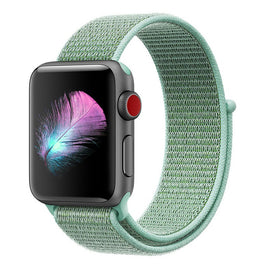 Apple Watch Nylon Loop Band Sport Strap (42mm 44mm Series 4 / 3 / 2 / 1) Merine Green