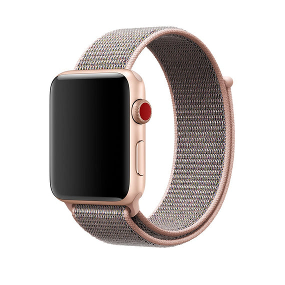 Apple Watch Nylon Loop Band Sport Strap (42mm 44mm Series 4 / 3 / 2 / 1) RoseGold
