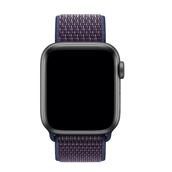 Apple Watch Nylon Loop Band Sport Strap (42mm 44mm Series 4 / 3 / 2 / 1) Strap Indigo