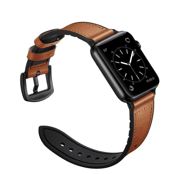 LiKGUS for Apple Watch band Genuine Leather Strap (42mm 44mm Series 5 / 4 / 3 / 2 / 1) Vintage Brown