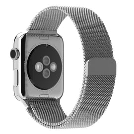 MobiLooks® for Apple Watch Milanese Loop Band Stainless steel Magnetic Close Strap (42mm 44mm ) Series 5 / 4 / 3 / 2 / 1  (Silver )