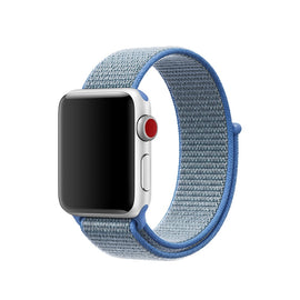 Apple Watch Nylon Loop Band Sport Strap (42mm 44mm Series 4 / 3 / 2 / 1) Skyblue