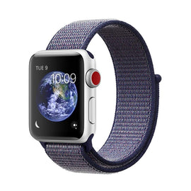 Apple Watch Nylon Loop Band Sport Strap (42mm 44mm Series 4 / 3 / 2 / 1) Midnight Blue