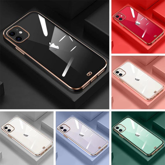 LIKGUS® for iPhone 12 Mini (5.4 inch), Crystal Clear Tough and Flexible TPU Back Case Cover (ROSE GOLD)