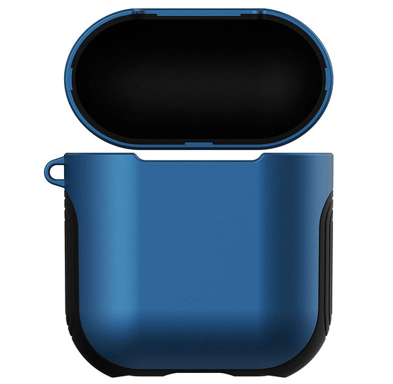 Apple Airpods Case Cover, Matte Finish 2 in 1 Protective Cover Shockproof Design(BLUE)
