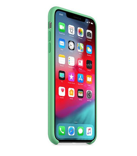 MobiLooks®) For Apple Iphone X / Xs Case,Ultra Slim Fit Liquid Silicone Gel With Full Body Protection Anti-Scratch Shockproof Case - Spearmint