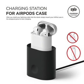 MobiLooks® for Apple AirPods 1 & 2  Charging Dock Station Silicone Charging Holder Stand