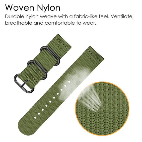 LiKGUS for Apple Watch Band Loop Nylon NATO Matte Buckle Adapters Sport Series (5 / 4 / 3 / 2 / 1) (42mm , 44mm) Army Green