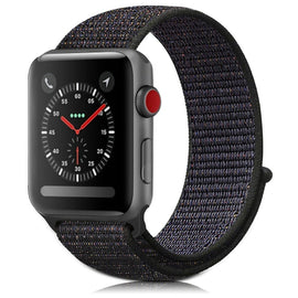 Apple Watch Nylon Loop Band Sport Strap (42mm 44mm Series 4 / 3 / 2 / 1) Copper Black