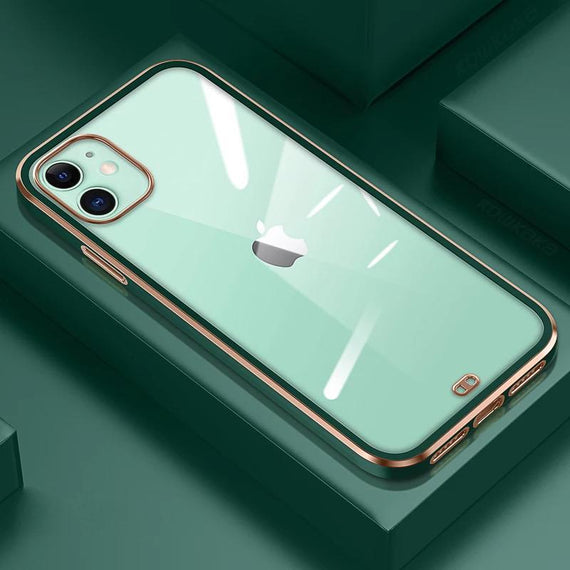 LiKGUSå¨ for iPhone 12 (6.1 inch), Crystal Clear Tough and Flexible TPU Back Case Cover (Dark Green)