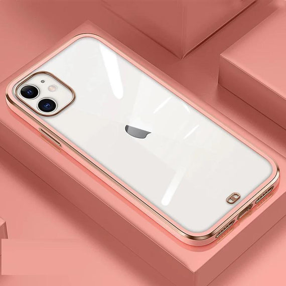 LiKGUSå¨ for iPhone 12 Pro (6.1 inch), Crystal Clear Tough and Flexible TPU Back Case Cover (ROSE GOLD)