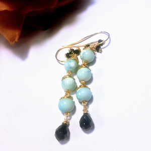 Beautiful Robins Egg Blue Italian Glass Earrings