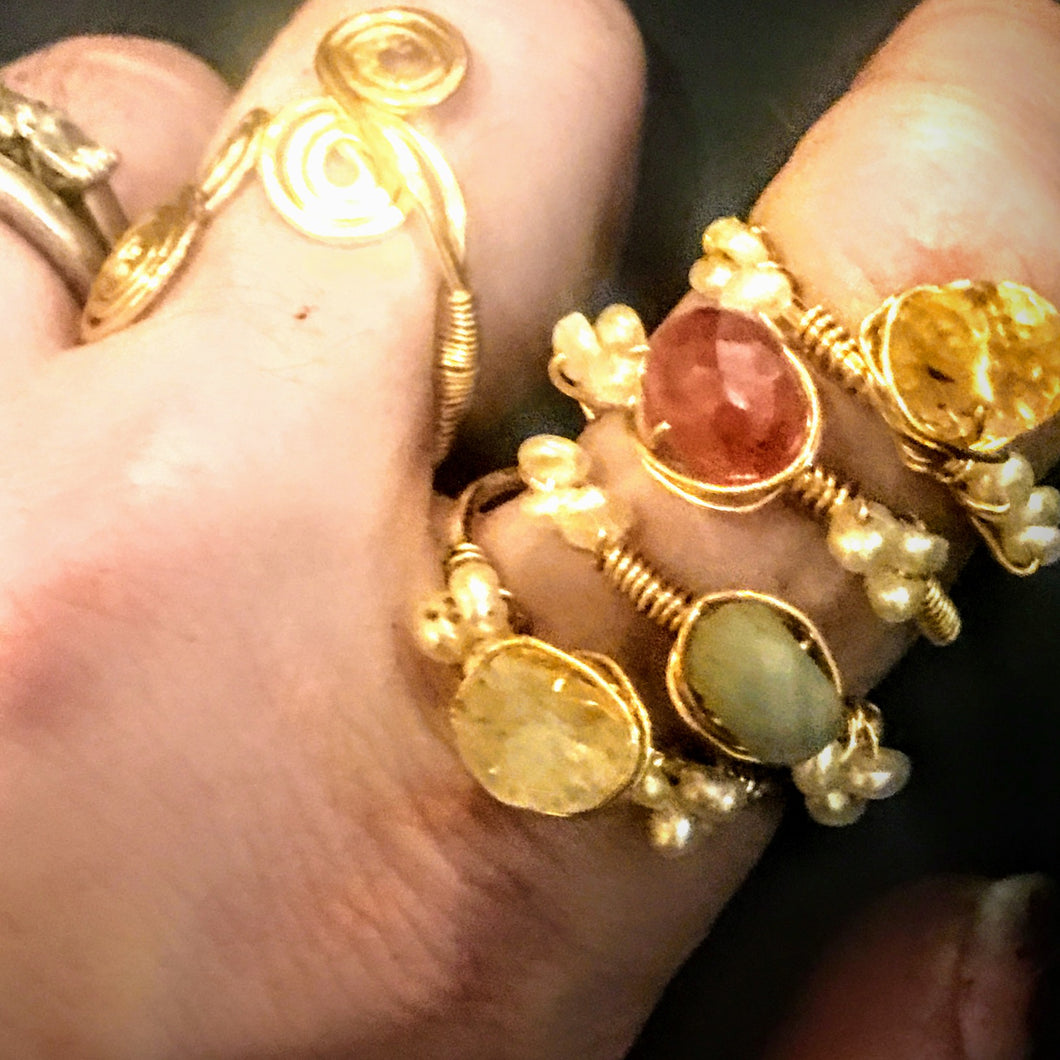 Carnelian Stackable Ring