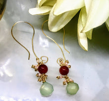 Agate and Chalcedony Earrings