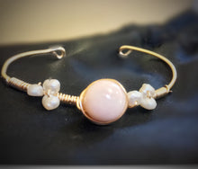 Angel Skin Coral and Freshwater Pearl Bracelet