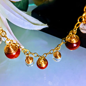 Ametrine and Carnelian Necklace