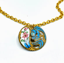 Victorian Enamel Button Necklace