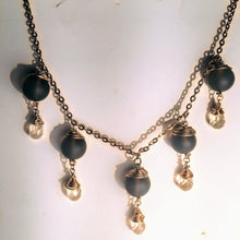 Beautiful Smoky Quartz and Ametrine Briolette Necklace