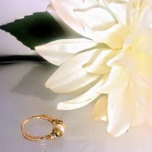 Pearl and Rhinestone Ring