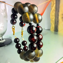 Garnet and Smoky Quartz Bracelet