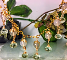 Green Amethyst and Agate Necklace