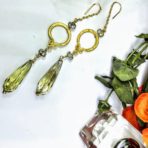 Quartz and Crystal Earrings