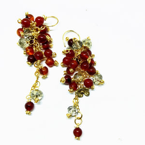 Ruby Red Carnelian Drops