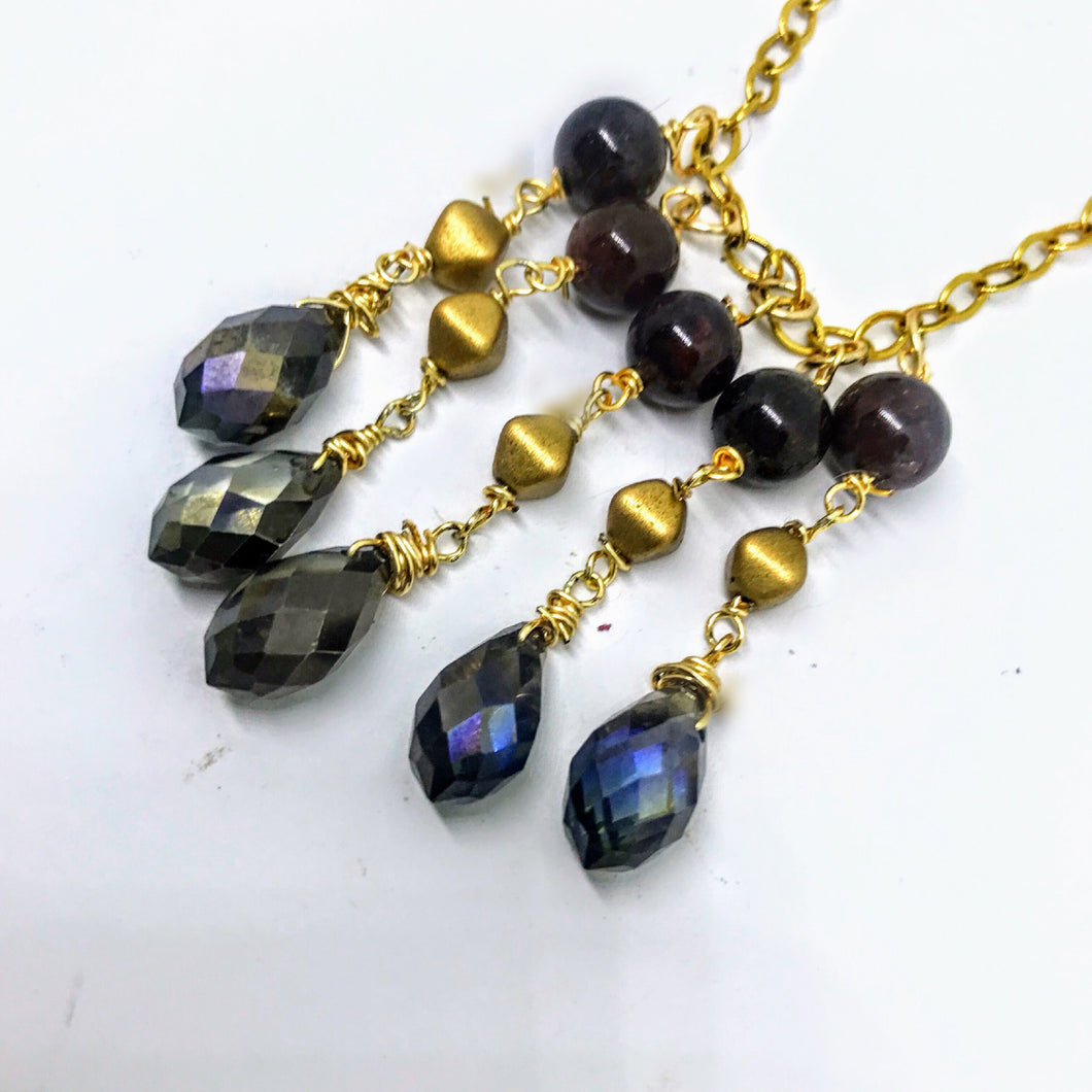 Garnet Gypsy Necklace