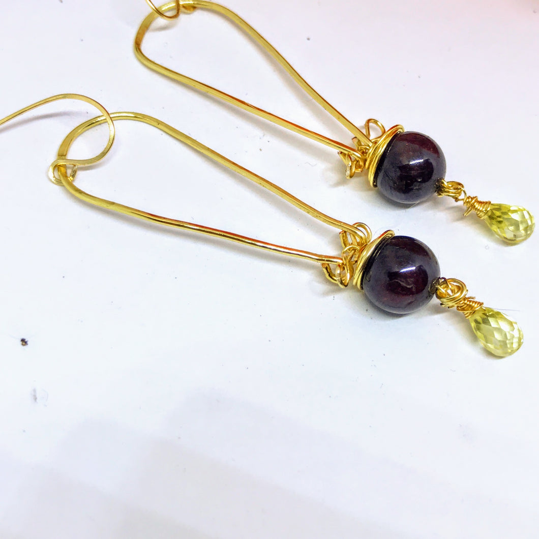 Garnet and Lemon Zirconia