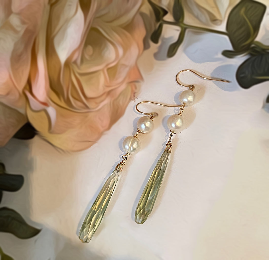 Hydro-Quartz Earrings