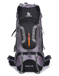 Black Large Capacity Camping Rucksack 80L--ERucks