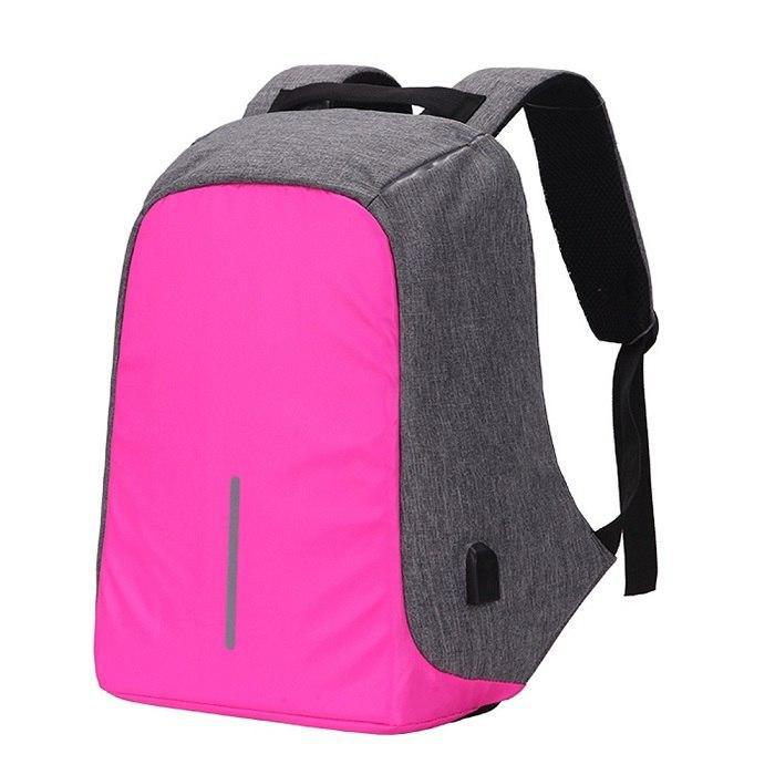 Original Anti-Theft Backpack With USB Charging-Hot Pink-ERucks