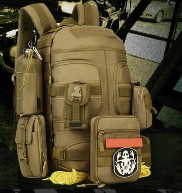 Sinairsoft 35L Military Molle Tactical Backpack-Tactical Black-ERucks