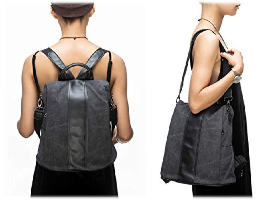 Women Waterproof Multi-functional Convertible Shoulder Bag Backpack