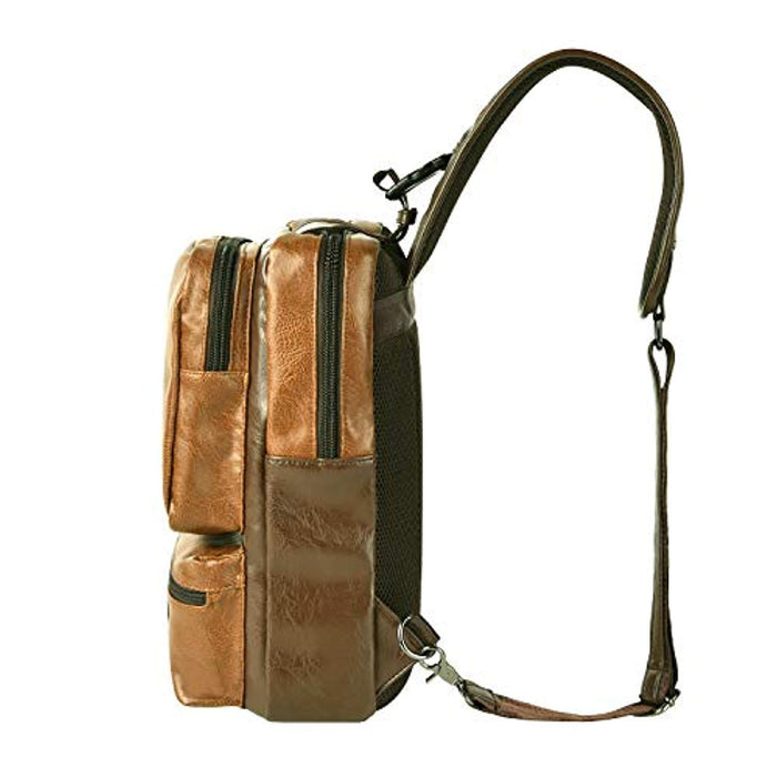 "Men's Sling Backpack Crossbody 13"" Laptop Bag with USB Port"