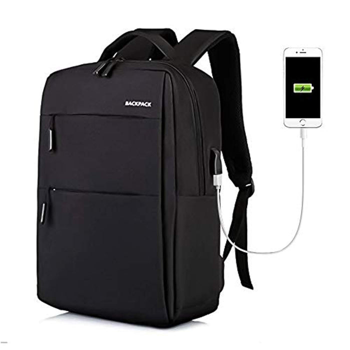 Elegant Water & Scratch Resistant Travel Laptop Backpack with USB Charging Port