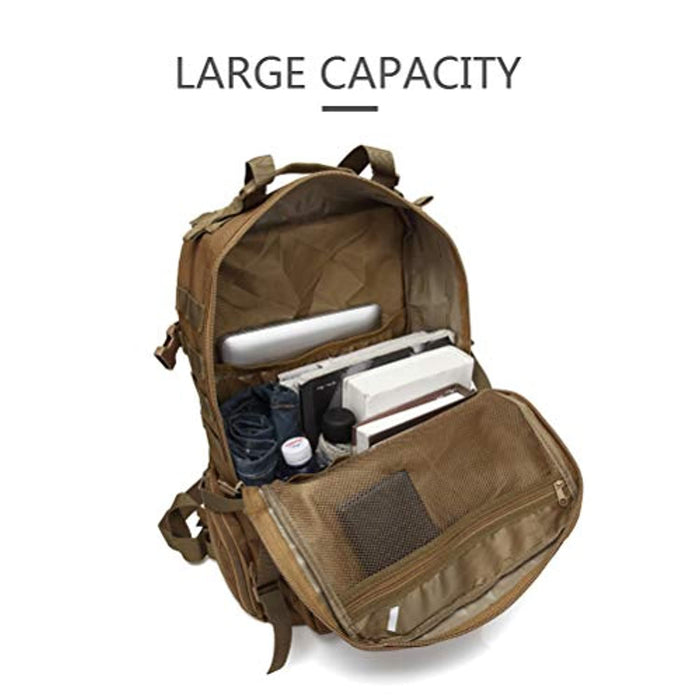 45L Large Capacity Military Combat Backpack